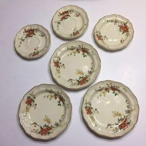 Mikasa Heritage Capistrano Dishes 6 Lot Plates